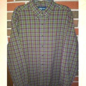 Polo by Ralph Lauren men's plaid button down shirt